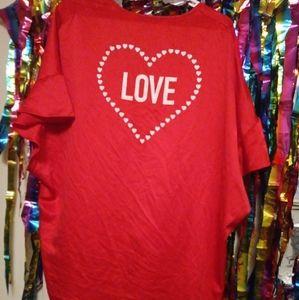🎉Victoria's Secret Red Heart Love Kimono Robe